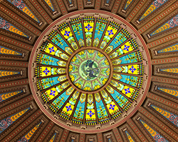 Inside-Dome of Capitol Bldg